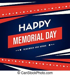 Happy memorial day background card
