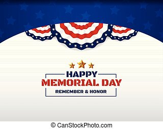 Happy Memorial Day Background Design With USA Circle Flag