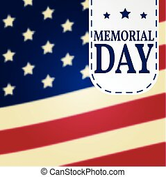 Happy Memorial Day background template. Happy Memorial Day poster.  Patriotic banner. Vector illustration.