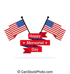 Happy Memorial Day background. Vector illustration.