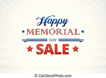 Happy Memorial Day banner background vector illustration