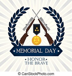 happy memorial day card with medal