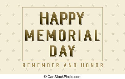 Happy memorial day collection background