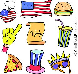 Happy memorial day doodle style