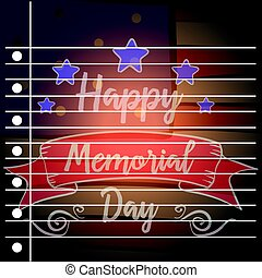Happy memorial day of greeting card
