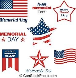 Happy Memorial Day. Patriotic American Flag. Vector