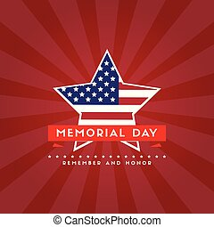 Happy memorial day poster flag american