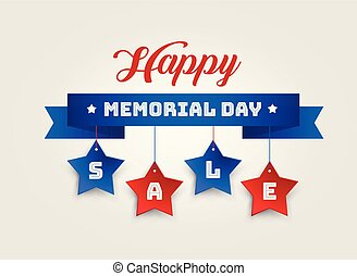 Happy Memorial Day Sale vector banner background illustration