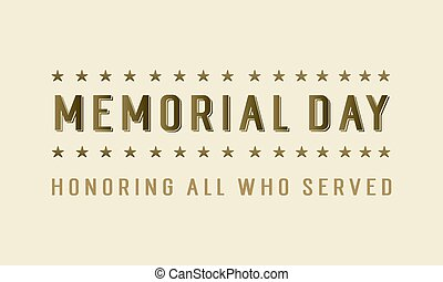 Happy memorial day style background
