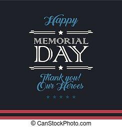 Happy Memorial Day typography vector background