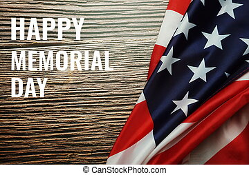 Happy Memorial Day. USA flag. American holiday background