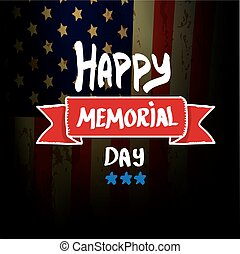 Happy Memorial Day vector background. Memorial day greeting ...