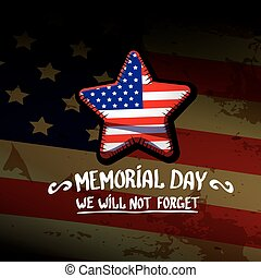 Happy Memorial Day vector background. Memorial day greeting...
