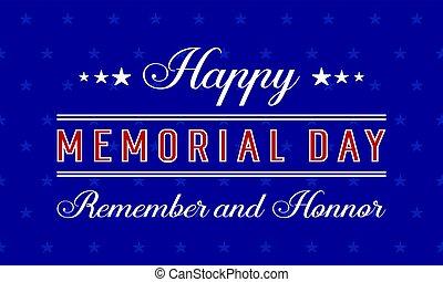 Happy memorial day vector illustration
