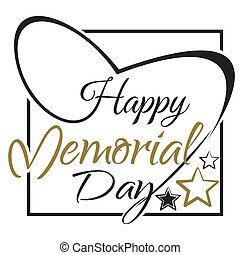 Happy Memory Day lettering card design