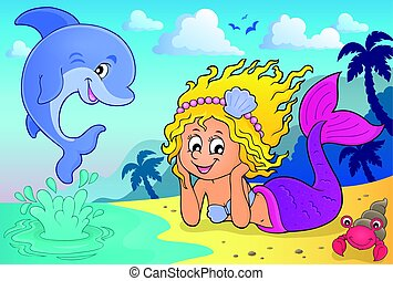 Happy mermaid theme 4