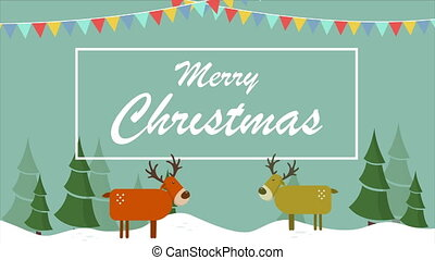 Happy Merry Christmas and Happy New Year animation