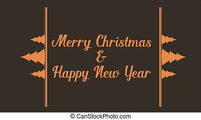 Happy Merry Christmas background animation