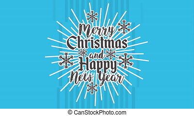 happy merry christmas card burst frame ,hd video animation