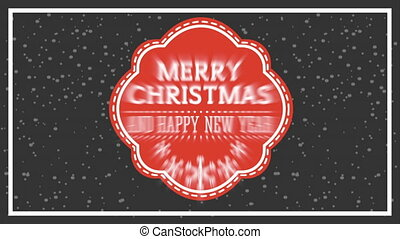 happy merry christmas card with frame ,hd video animation