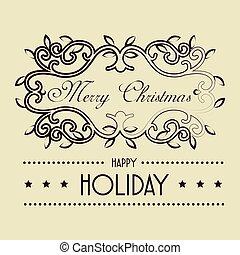 happy merry christmas frame