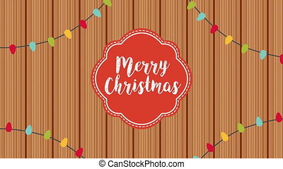 happy merry christmas frame with calligraphy ,4k video ...