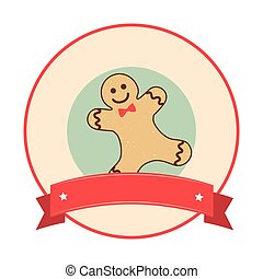 happy merry christmas ginger cookie card