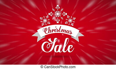 happy merry christmas sale with snowballs decoration ,hd video animation
