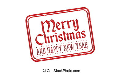 happy merry christmas seal stamp ,hd video animation