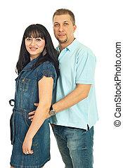 Happy mid adult couple