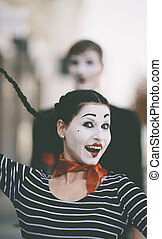 happy mime