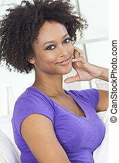 Happy Mixed Race African American Girl