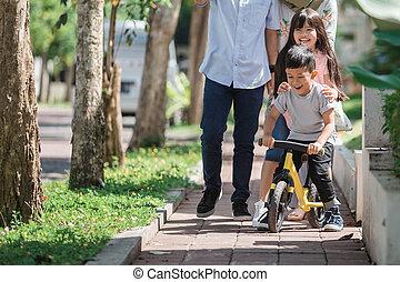 happy modern lovely muslim family