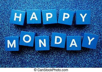 Happy Monday alphabet letter