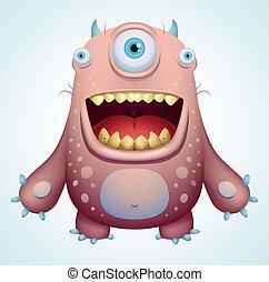 Happy Monster - Cartoon Character