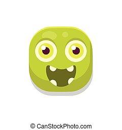 Happy Monster Square Icon