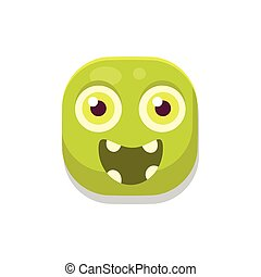 Happy Monster Square Icon