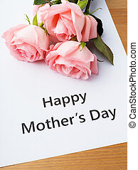 Happy mother day and rose