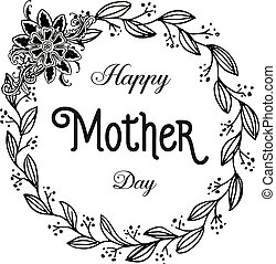 Happy mother day beautiful card flower