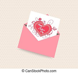 happy mother day card with envelope