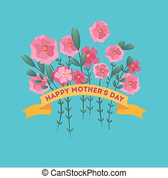Happy mother day greeting card. Beautiful poster