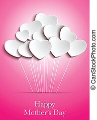 Happy Mother Day Heart Background - Vector - Happy Mother...