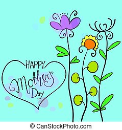 Happy mother day illustration vector