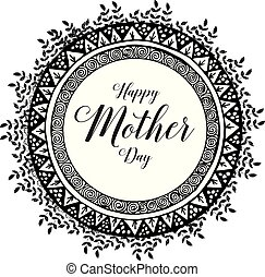 Happy mother day typographical design vector illustration