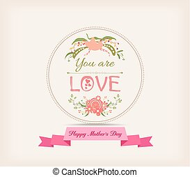 happy mother day with florals