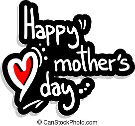 Happy mother - Happy mohter day vector emblem