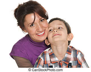 Happy mother with her son
