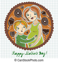 Happy mother`s day background