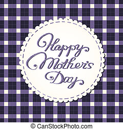 """Happy mother's day"" card, embroidered letters."