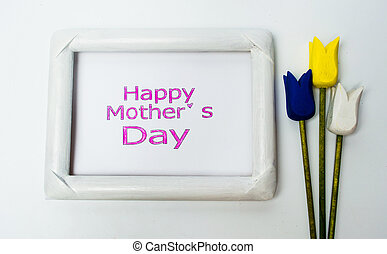 Happy mothers day card in a frame